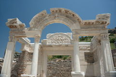 Ancient temple in Ephesus Stock Image