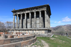 Ancient temple Garni. The ancient temple Garni in spring, Armenia Stock Photography