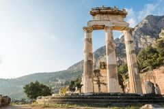Ancient temple of Goddess Athena. Royalty Free Stock Photo