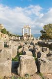 Ancient temple of Goddess Athena. Royalty Free Stock Photography