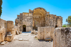 Ancient temple. Gortyna, Crete, Greece Royalty Free Stock Image