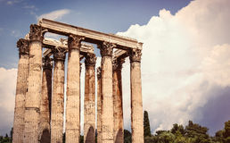 Ancient temple in Greece Stock Photo