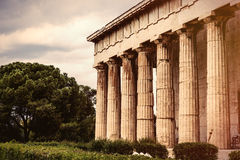 Ancient temple in Greece Royalty Free Stock Images