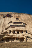 The ancient temple and grottoes (Mati Temple). Built in the mountain, Zhangye, Gansu of China Stock Photography