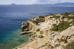 Ancient temple of Hera ruins in Loutraki Royalty Free Stock Photo