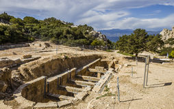 Ancient temple of Hera ruins in Loutraki Royalty Free Stock Photography