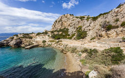 Ancient temple of Hera ruins in Loutraki Stock Photography