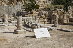 Ancient temple of Hera ruins in Loutraki Stock Photo