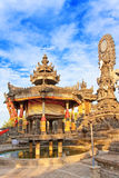 Ancient temple on a hill slope. Indonesia. Bali Royalty Free Stock Photo
