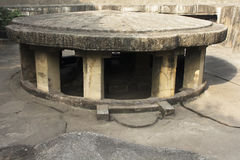 Ancient temple. Of india in pune, pataleshwar caves Stock Photos