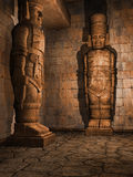 Ancient temple interior Royalty Free Stock Photos