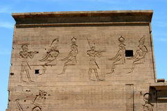 Ancient temple on the island of Philae. Egypt Stock Photos