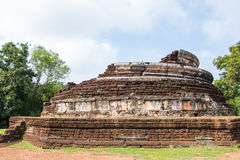 Ancient temple in Kamphaeng Phet Historical Park . Stock Photo