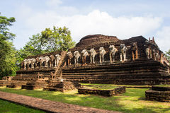 Ancient temple in Kamphaeng Phet Historical Park. Stock Images