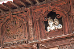 Ancient Temple, Kathmandu Durbar Square, Nepal Royalty Free Stock Photos