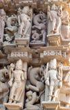 Ancient temple in Khajuraho, India Royalty Free Stock Photo