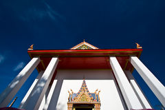 The ancient temple in koh kret, Nonthaburi Royalty Free Stock Photos