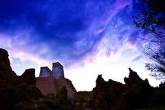 Ancient temple of ladakh Stock Photo