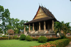 Ancient temple  in Laos 2. Wat Si Saket is the Ancient temple in Laos Royalty Free Stock Photos