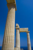 Ancient temple of Lindos Stock Image