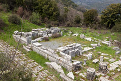 Ancient temple at Lykosura in Greece Royalty Free Stock Photo