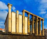 Ancient temple. Merida, Spain Stock Photos
