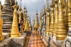 Temple near Inle Lake, Myanmar. Ancient temple near Inle Lake, one of the top tourist attractions of Myanmar stock photos