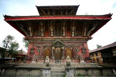 Ancient temple nepal Stock Photography