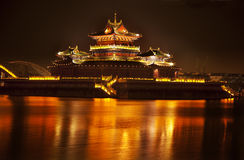 Ancient Temple Night Jinming Lake Kaifeng Royalty Free Stock Images