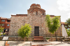 Ancient temple in Old Nessebar Stock Image