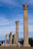 Ancient Temple of Olympian Zeus in Athens Greece. Columns of Ancient Temple of Olympian Zeus in Athens Greece on blue sky background Stock Image