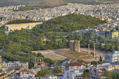 Ancient Temple of Olympian Zeus, Athens, Greece Stock Images