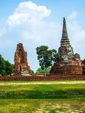Ancient temple. Ancient Pagoda at Ayutthaya Historical Park Royalty Free Stock Images