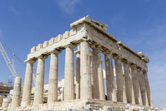 Ancient temple Parthenon in Acropolis Athens Greece Stock Images