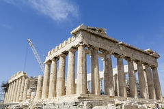 Ancient temple Parthenon in Acropolis Athens Greece Royalty Free Stock Photography