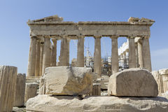 Ancient temple Parthenon in Acropolis Athens Greece Stock Photography