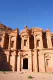 Ancient temple in Petra Stock Image