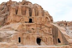 Ancient temple in Petra, in Jordan Stock Photo