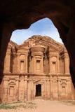 Ancient temple in Petra, in Jordan Royalty Free Stock Image