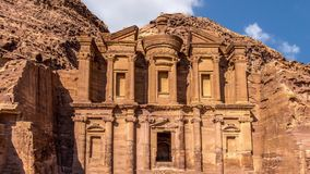 Ancient temple in Petra Stock Photography