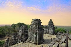 Ancient temple Phnom Bakheng in Angkor Wat Stock Photography