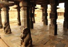 Ancient temple pillar sculptures Stock Photography