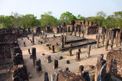 Ancient  temple in Polonnaruwa Royalty Free Stock Images