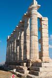 Ancient temple of Poseidon Stock Image