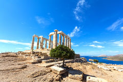 Ancient temple of Poseidon Stock Photography