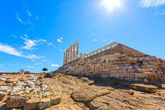 Ancient temple of Poseidon Royalty Free Stock Photography