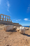 Ancient temple of Poseidon Royalty Free Stock Image