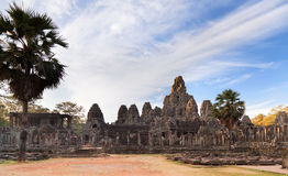 Ancient temple Prasat Bayon in Angkor complex Royalty Free Stock Image