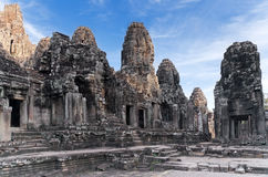 Ancient temple Prasat Bayon in Angkor complex Royalty Free Stock Photography