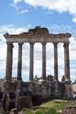Ancient temple - Rome - Italy. The Forum in Rome, Italy, with the ruins of several temples Stock Photography